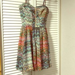 Guess Los Angeles Multi Colored Dress